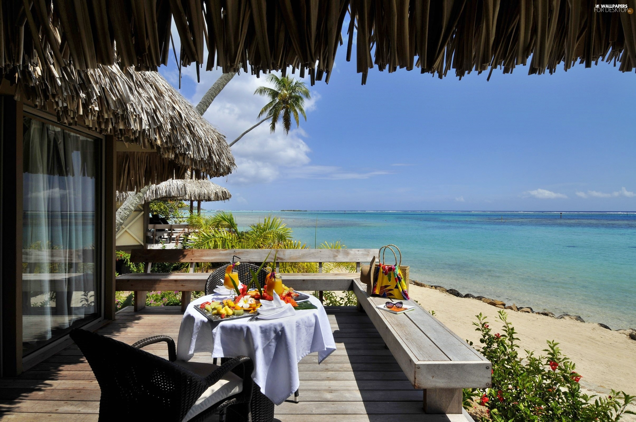 Breakfast the hotel ocean tahiti beaches terrace for Breakfast terrace