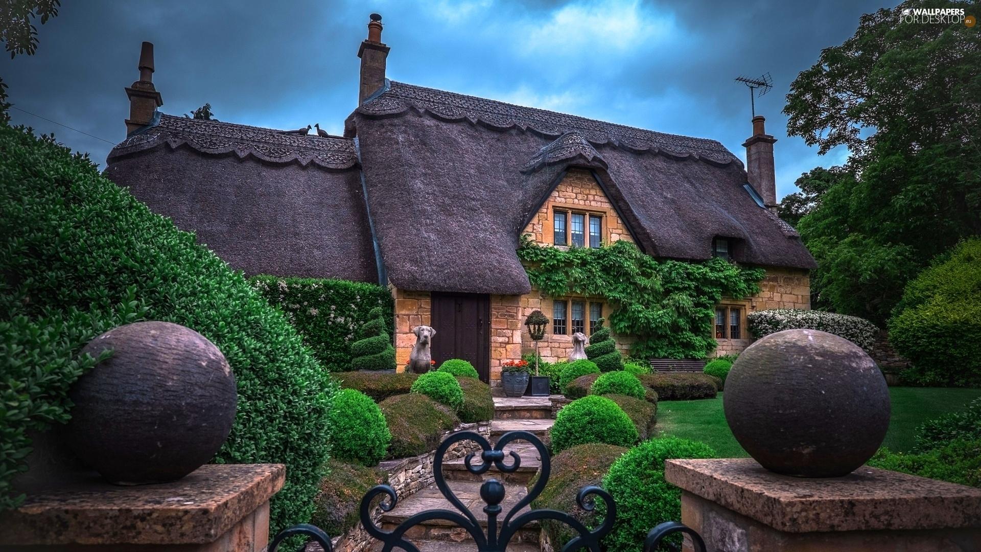 England garden cloudy day house for desktop for Wallpaper home england