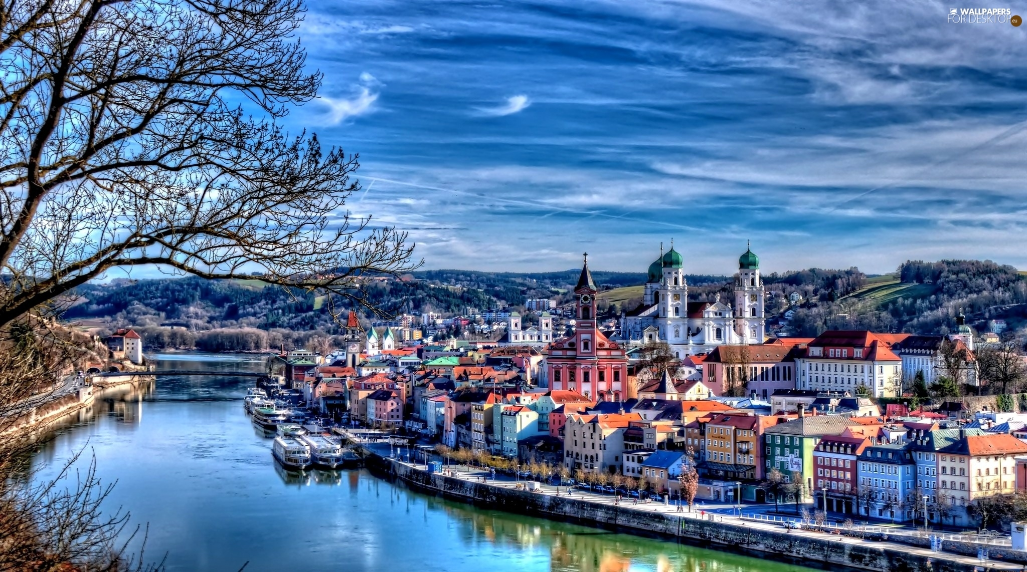 Passau Germany  city pictures gallery : passau germany river town panorama