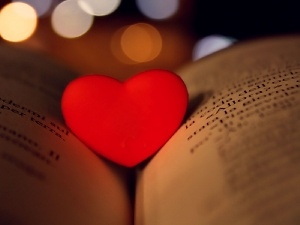 Book, Red, Heart