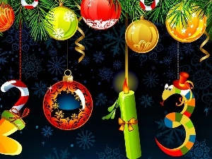 Christmas, date, New Year, ornamentation, Coloured