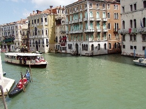 Italy, water, Houses, Venice, by