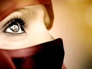 shawl, Women, eye