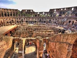 sightseeing, Coloseum, ruins
