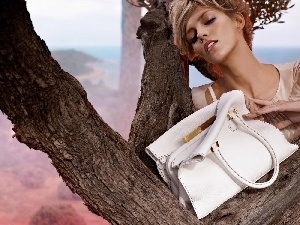 Purse, Anja Rubik, trees
