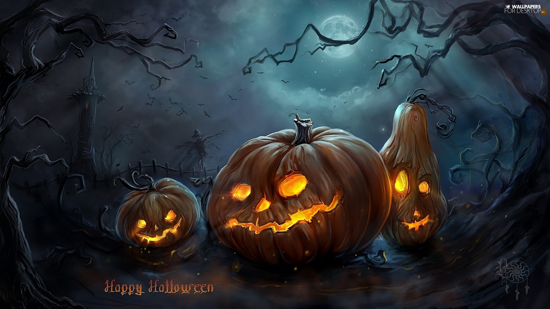halloween, pumpkin, graphics, scary