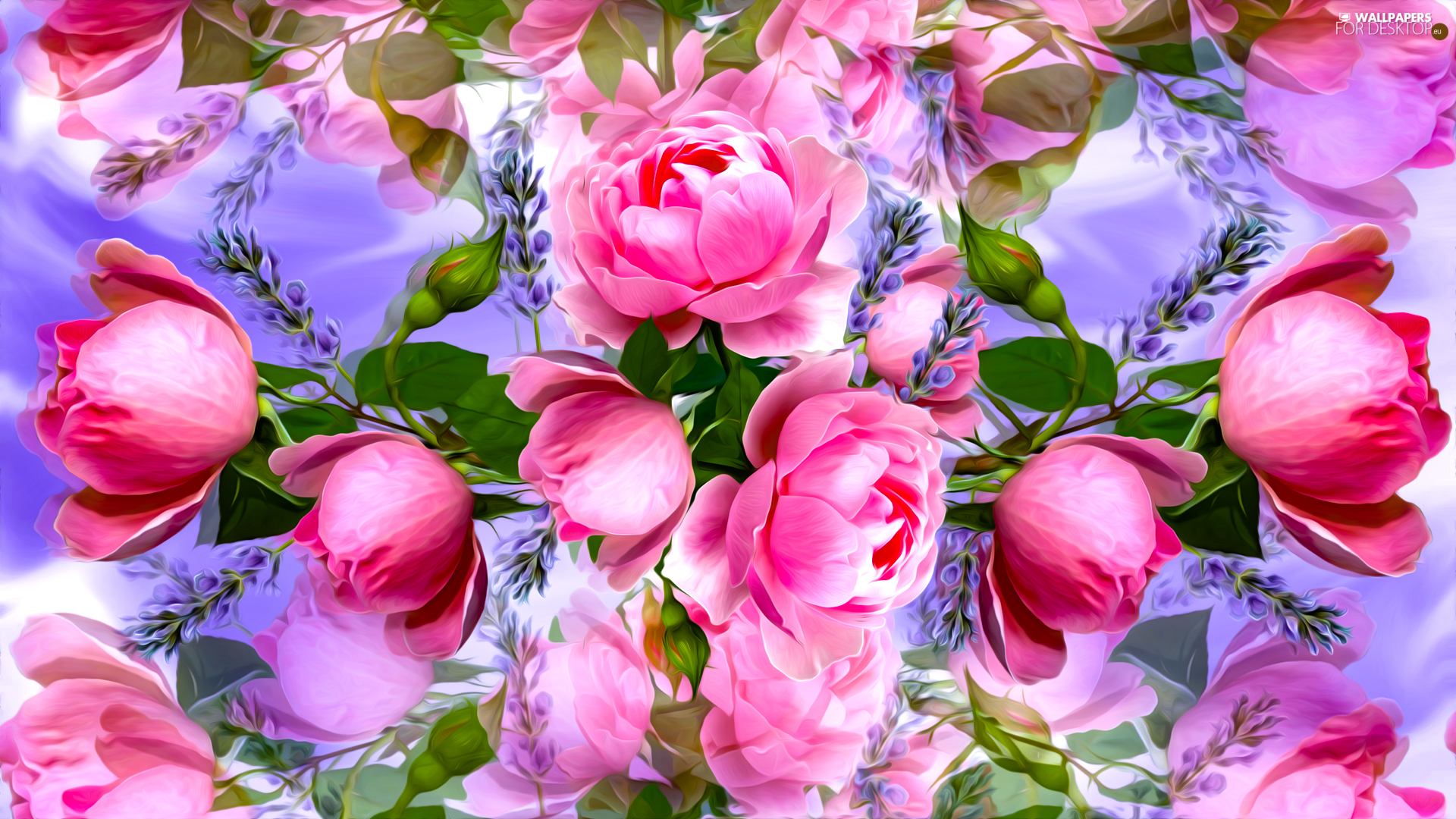background, graphics, roses, fuzzy, Flowers