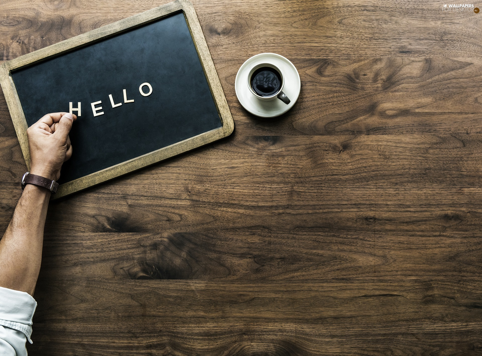 text, hello, boarding, welcome, background, plate, coffee, hand
