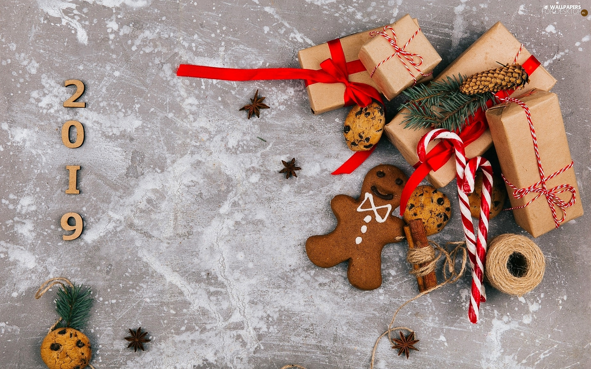 anise, twine, gifts, Cookies, Christmas