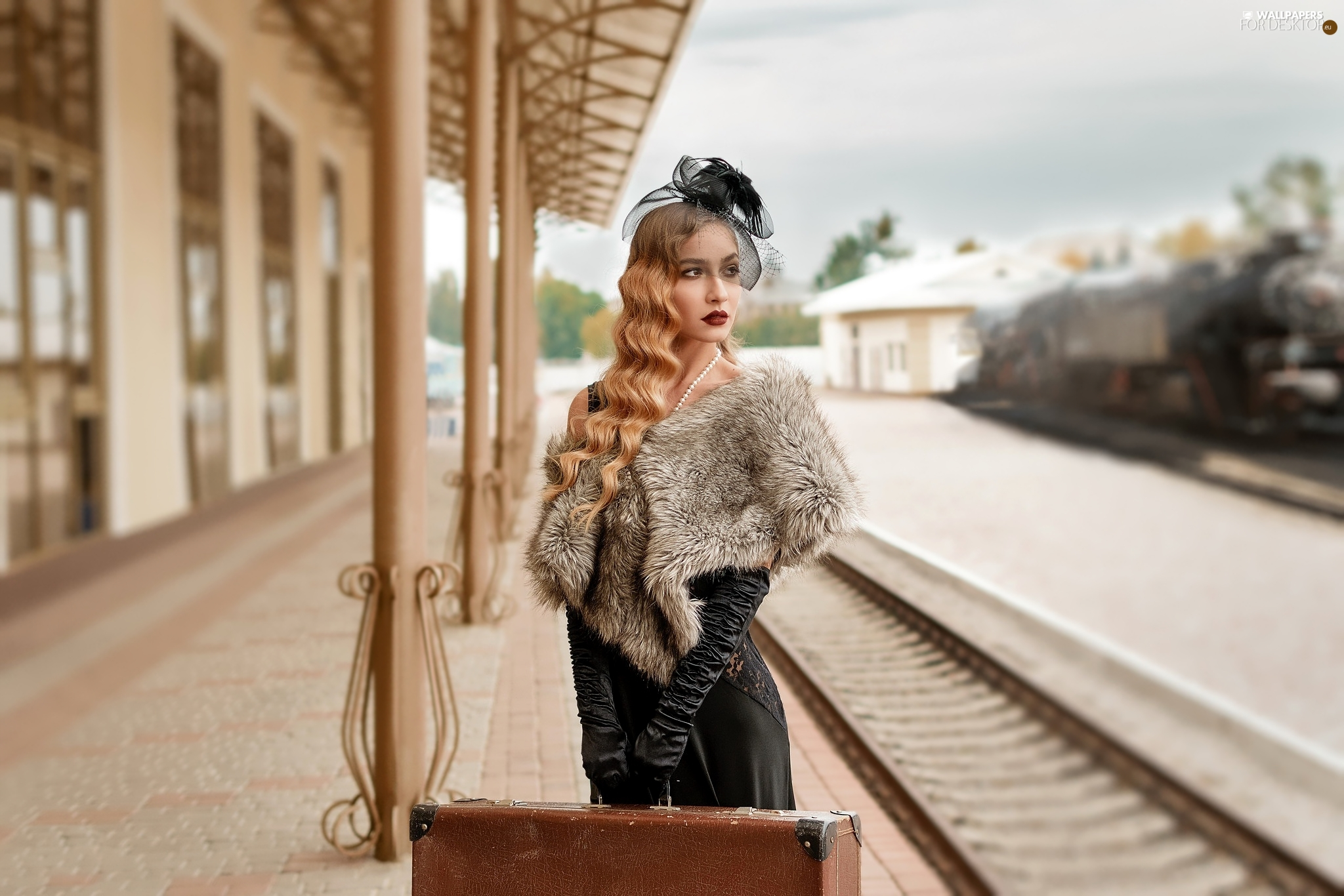etola, Blonde, platform, veiling, Women, case, station