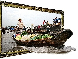 frame, Boat, 4d, China