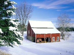 winter, Home, agrimotor, snow