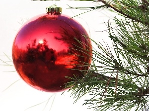 reflection, christmas tree, bauble