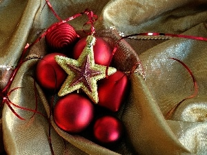 baubles, star, birth, decoration, God