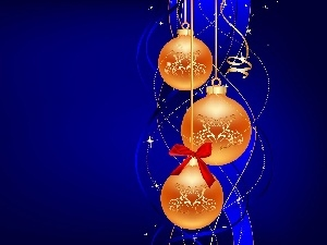 baubles, christmas, Yellow