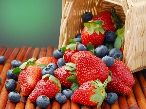 basket, strawberries, berries, full