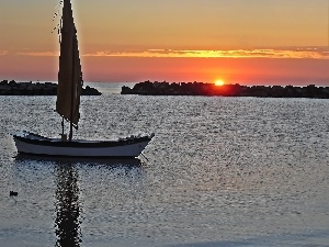 Italy, Great Sunsets, Boat, sea