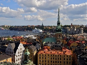 Stockholm, port, buildings, Sweden