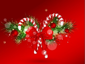 christmas, lollipops, bow