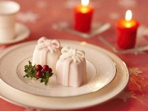 Muffins, Christmas, decoration, Christmas, Candles
