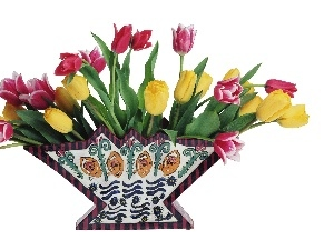 Tulips, bouquet, Different colored
