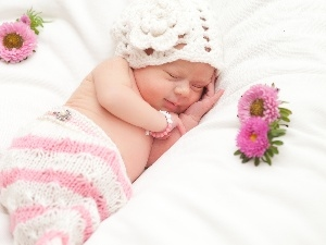 Flowers, Sleeping, Kid