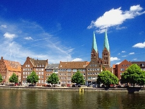 River, Luebeck, Germany, Trave