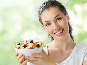 Beauty, salad, health, Women