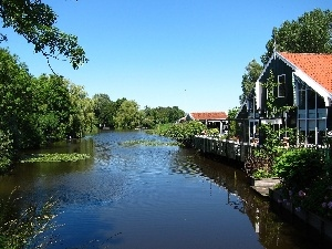 house, Netherlands, canal