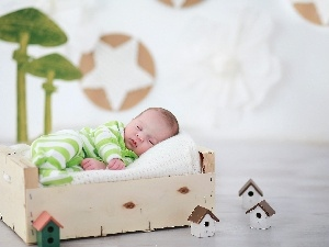 Sleeping, box, Houses, Baby