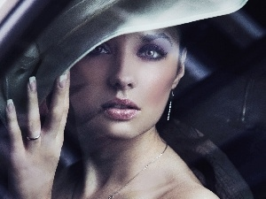 Hat, Women, make-up