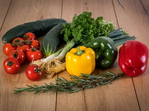 Seasons, peppers, tomatoes, cucumbers, vegetables