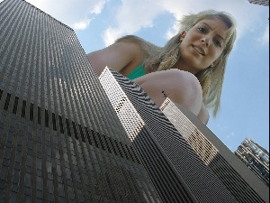 Women, more than, skyscrapers, Blonde