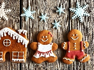Gingerbread, humans, Stars, Home