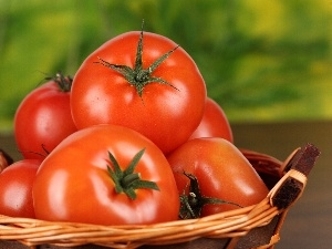 tomatoes, wicker, basket