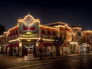 City at Night, California, USA, Disneyland