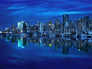 Town, Canada, Vancouver, night