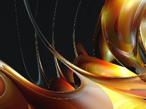 Vectorial, abstraction, 3D