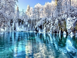 water, landscape, winter