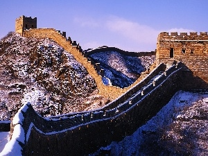 winter, wall, Chinese